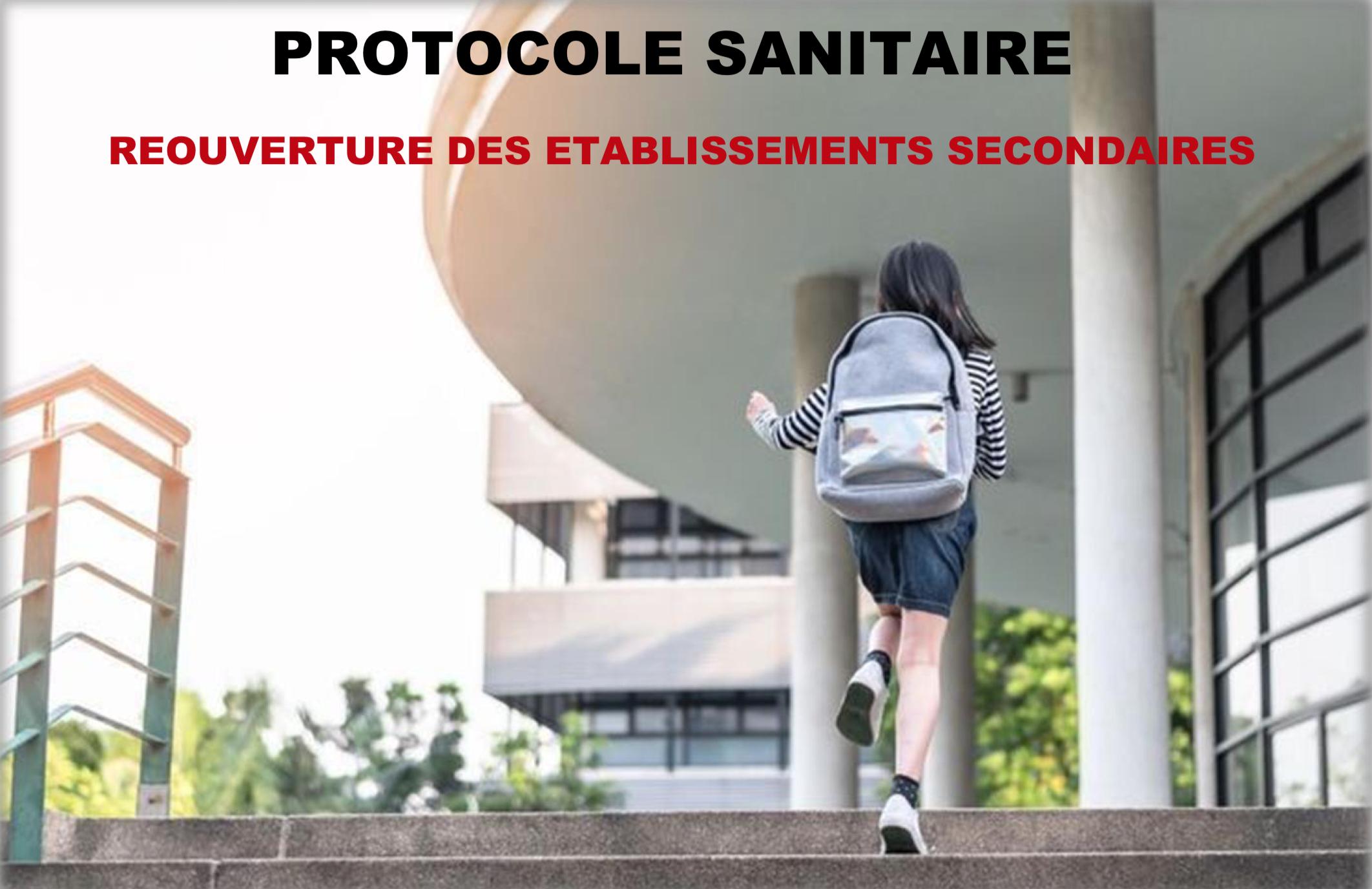 Protocole sanitaire proposé par le Ministère de l'Éducation nationale