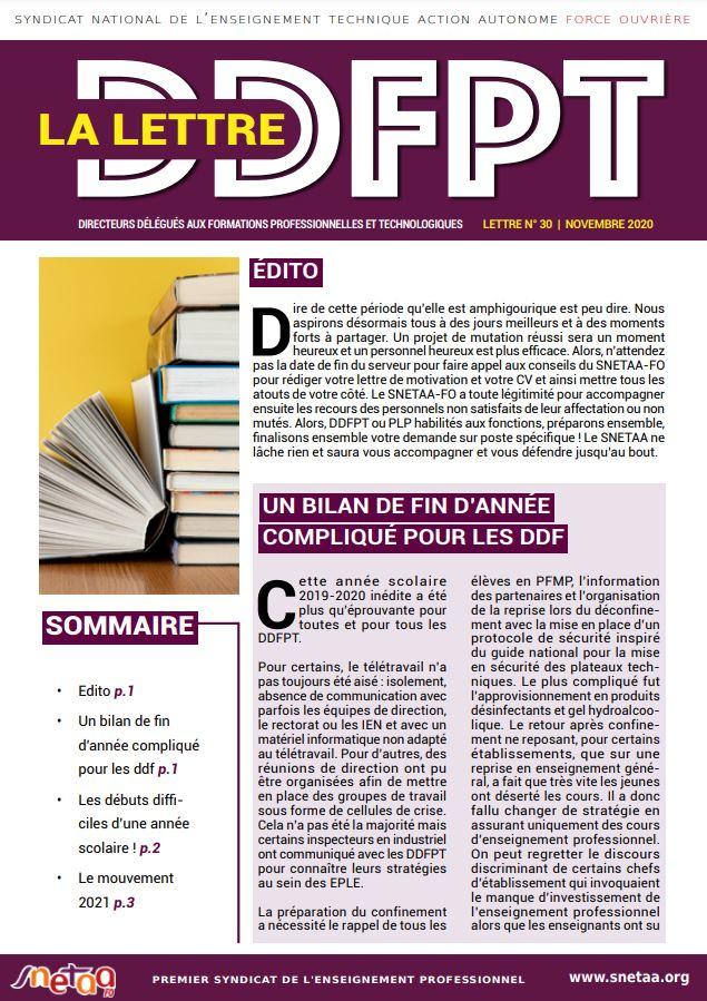 Lettre DDFPT n°30