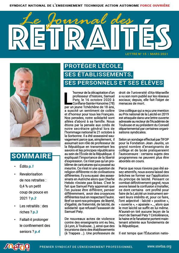 Journal des retraités n°15
