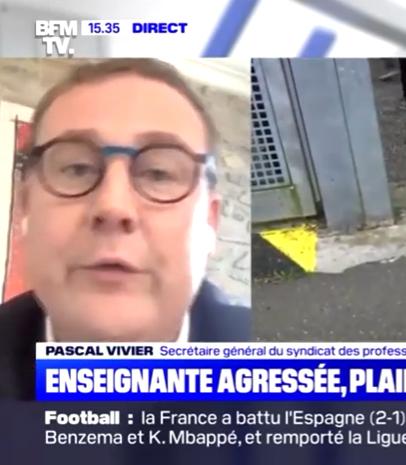 Pascal Vivier, s'exprime sur les phénomènes de violences dans les lycées professionnels.
